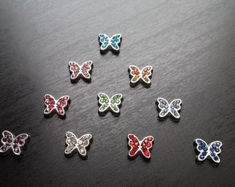 Butterfly Floating Charm For Floating Lockets-Choose from 10 Colors-Gift Idea