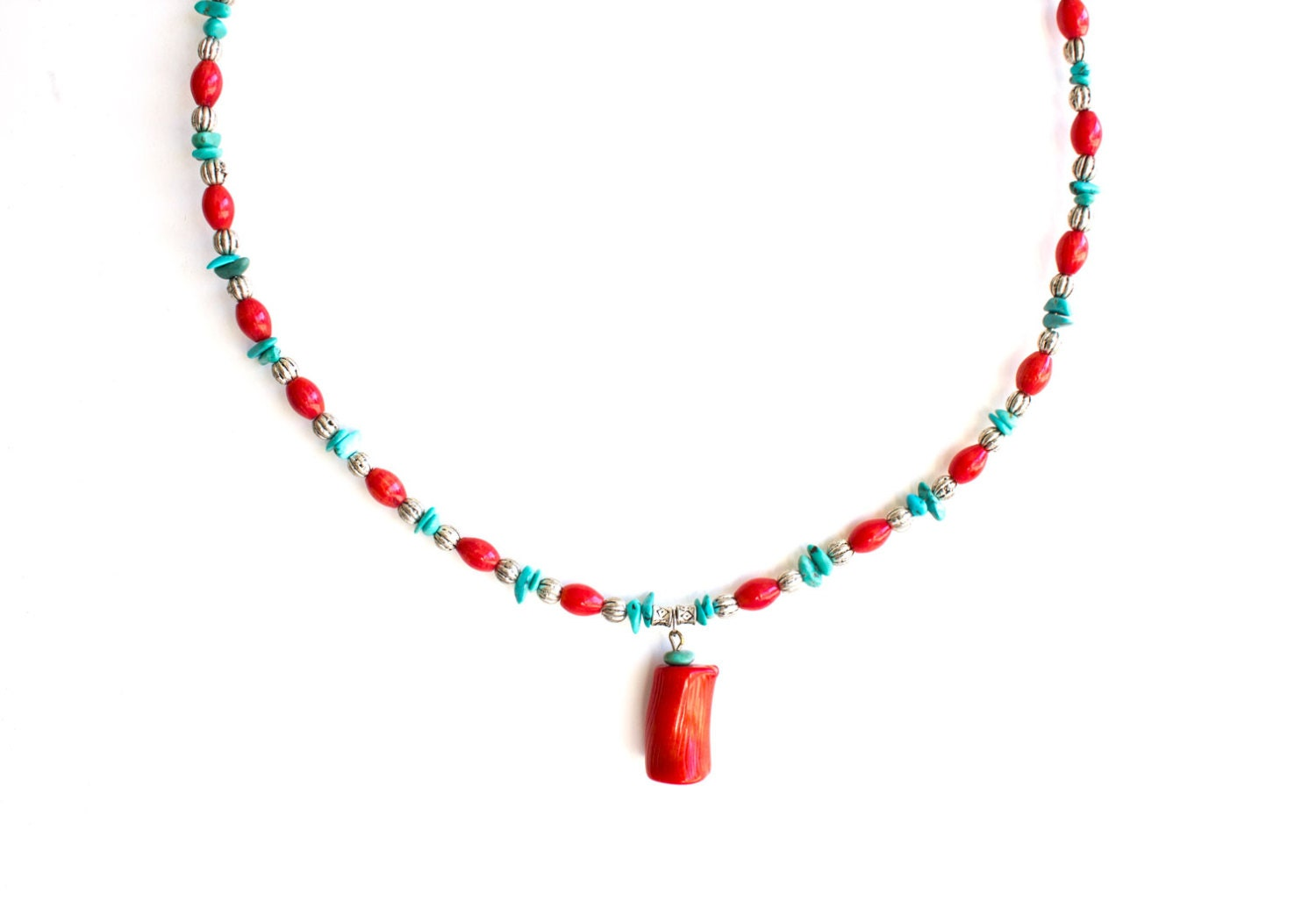 turquoise and coral necklace turquoise choker necklace