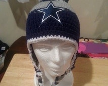 Dallas Cowboys Crocheted Beanie, Dallas Cowboys Hat