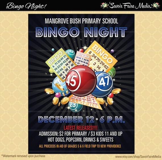 Family Bingo Night Flyer Template - Chick fil a fundraiser flyer template
