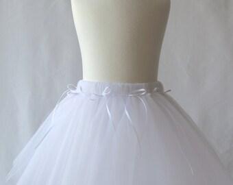 White Tutu, Girl's Petticoat, Flower Girl Tutu, Children's Tutu, Tutu Skirt for Newborn, Toddler & Children