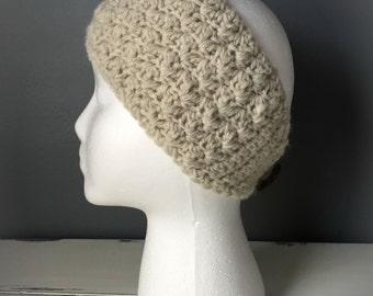 Crochet Headband Earwarmer - Oatmeal