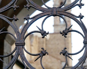 Fine Art Photography, Italy Photography, Florence Italy, Architecture Art, Tuscan Décor, 5 x 7 Print, Rusty Metal, Santa Croce