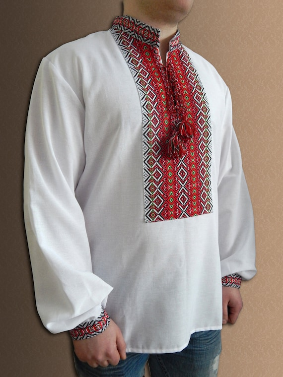 Ukrainian shirt embroidered vyshyvanka for men folk