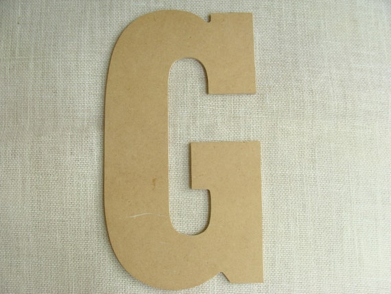 Huge Unfinished Wood Capital Letter G 12 By