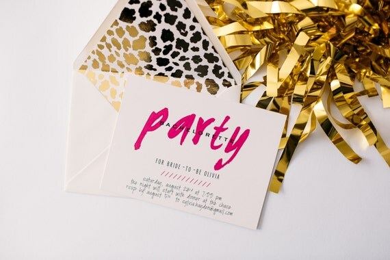 bachelorette party invitation  - customizable (sets of 10)  // lola louie paperie