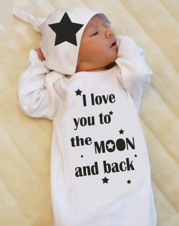 Newborn Take Home Outfit for Baby Boy or Baby Girl I love you