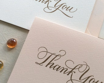 Hand Lettered Thank You Card Set