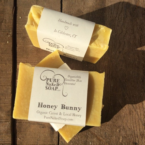 Organic soap – Bar Soap - All natural Carrot & Honey Soap – Handmade Soap – Artisan gift soap – best selling soap – cold process soap