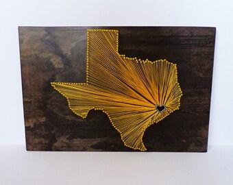 "16""x24"" Texas State Love Custom String Art Wall Hanging"