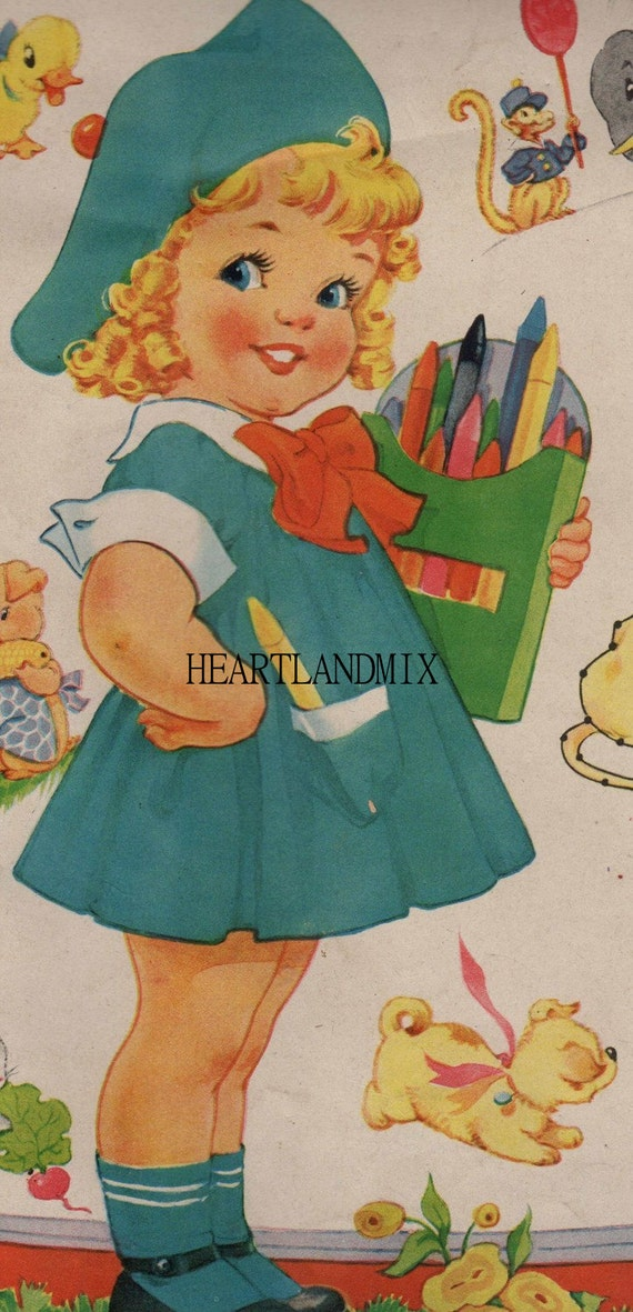 vintage coloring pages etsy - photo#2