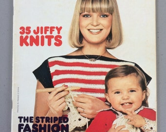 Hand Knitting and Hand Crochet Patterns, Vintage, Mon Tricot Knit & Crochet Magazine, Classic Styles and Patterns, From the 70-80's