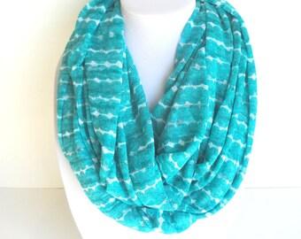 Teal Infinity Scarf Tiffany Blue Scarf Turquoise Scarf Aqua Scarf Knit Infinity Scarf
