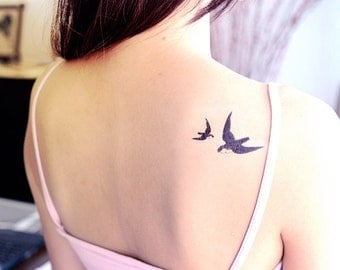 Swallows Temporary Tattoos (Set of 4)