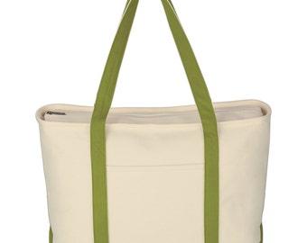 25 Large Cotton Canvas Beach Tote Bags, Cotton Canvas Boat Tote Bags, Blank Tote Bags in 6 Available Colors