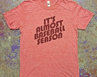 It's Almost Baseball Season Tee-Red-Alternative Apparel