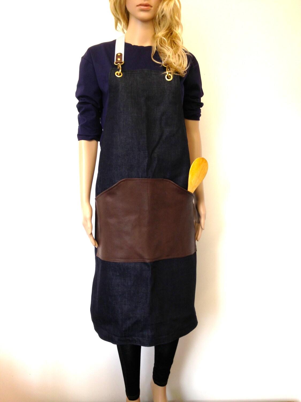 White apron etsy -  Leather Apron Denim Leather Aprons Barista Roaster Cafe Diy Apron Mens Cafe Restaurant
