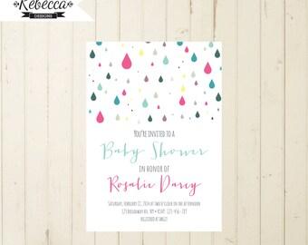 baby shower sprinkle invitation baby shower invitation printable baby shower mint coral teal pink modern neutral baby shower invite confetti
