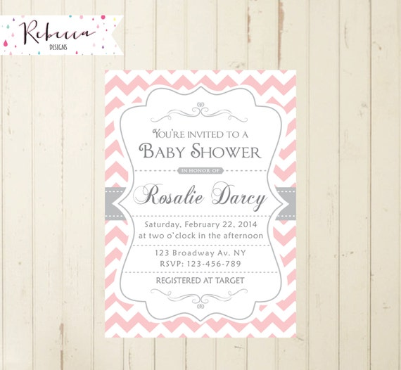 baby shower brunch invitation pink baby shower invitation pink and