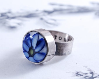 TOUJOURS - silver ring