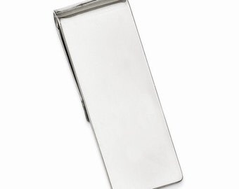 Engravable Solid Sterling Silver Money Clip Personalized Engraved Monogram Groomsmen Best Man Father Bride Business Christmas Gift CKLQQ23