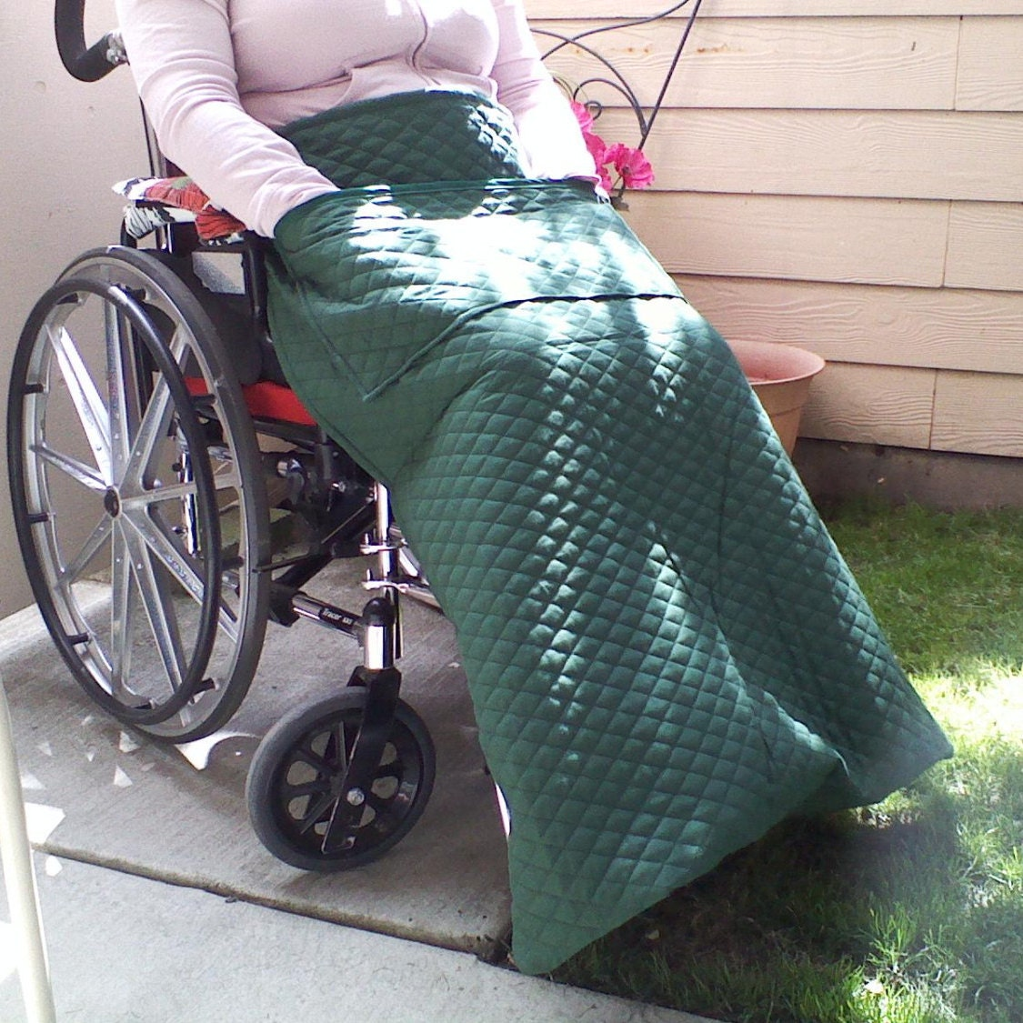 Wheelchair Blanket Power Chair Lap Blanket Handmade Quilted
