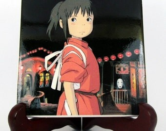 Spirited Away collectible tile - Studio Ghibli gifts handmade by TerryTiles2014 - Chihiro - Spirited Away fanart - Spirited Away Ghibli