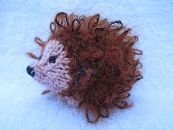 Stuffed Hedgehog Knitting Pattern : Knitted Fluffy Hedgehog Pattern PDF Pattern by ...