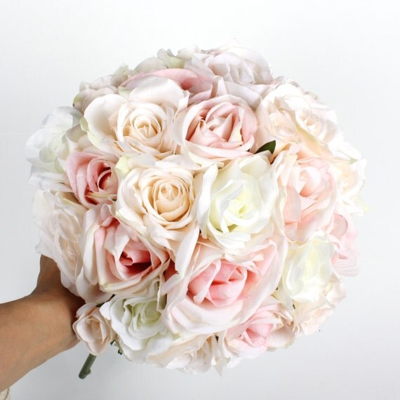 Bridal Flowers Blush Pink : Items similar to wedding flower bridal bouquet