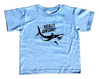 Totally Jawsome Shark Kids T-Shirt - Cool Shark Kids TShirt - Youth and Toddler Sizes - 2T-Youth Large
