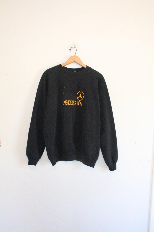 mercedes benz sweatshirt size mens large 90s pullover. Black Bedroom Furniture Sets. Home Design Ideas