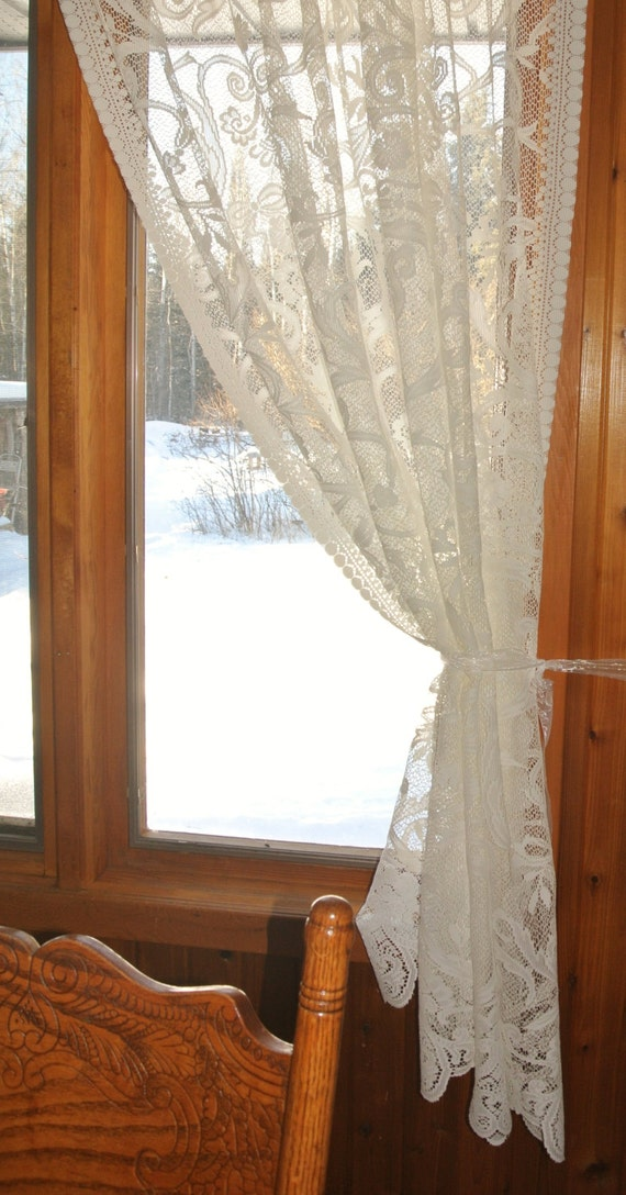 roses lace curtains images