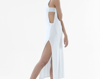 The Cold Front Dress (White) - Maxi Dress