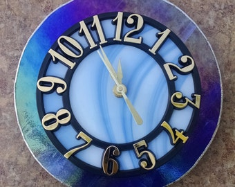 Dual Tone Stained Glass Clocks