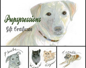 Gift Certificate for Pet Portraits