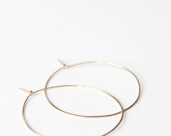Classic Maru Hoops // 14k Gold Fill Hoop Earrings