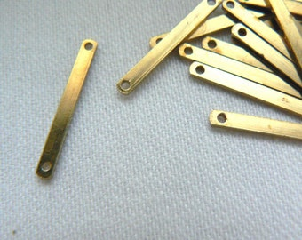 Bar pendant raw brass link 20 pieces 18.5x2.5mm- Jewelry brass pendant findings- Brass bar crafts findings