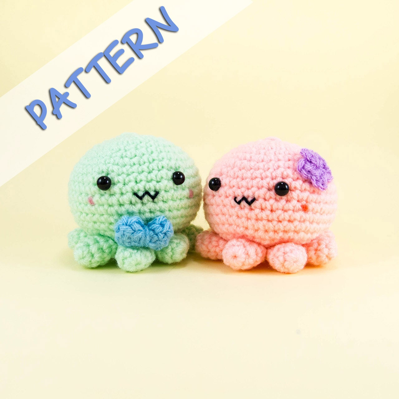 Crochet Wedding Gifts Patterns: Octopus Couple Amigurumi Pattern -- Crochet Toy Couple