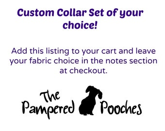 Custom Bow Tie Collar Set of your choice
