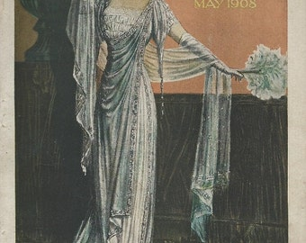 1904 Delineator magazine cover pages corsets ladies and childrens fashion advertising downloads