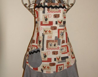 Women's Large Apron - Rooster
