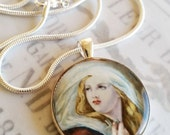 "St Mary Magdalene Apostle Pendant with 20"" Sterling Silver Chain - 32mm"