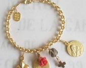 Bracelet - Saint Mary Magdalene Charm Bracelet - 18K Gold Vermeil