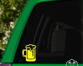 Frothy Beer Mug Car Window Decal