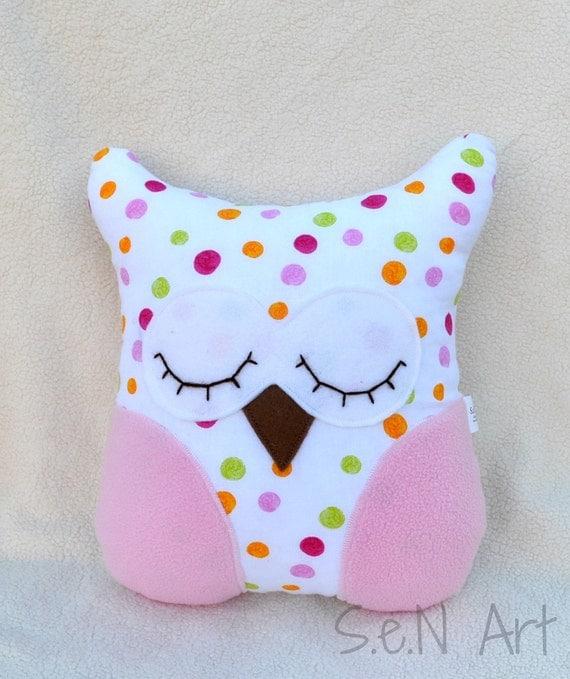 Items similar to Owl Pillow Handmade Owl Soft Toy Nursery Decor Decorative Pillows Stuffed Toy ...