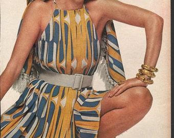 Five original fashion photo/illustrations, Vogue or Harpers Bazaar, 9x12 in - fash654