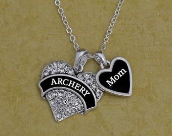 Custom Relationship Archery Heart Necklace
