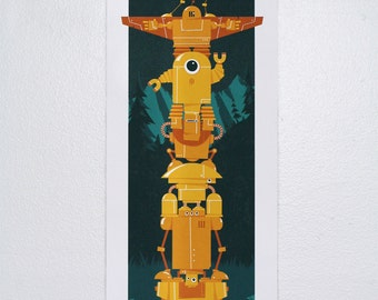 "Totem - 9.5"" x 24.5"" Screen Printed Poster"