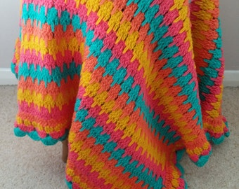Crochet Blanket Larksfoot Stitch