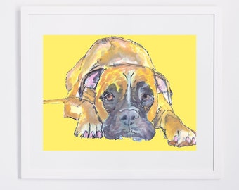 "Shop ""boxer dog gifts"" in Painting"
